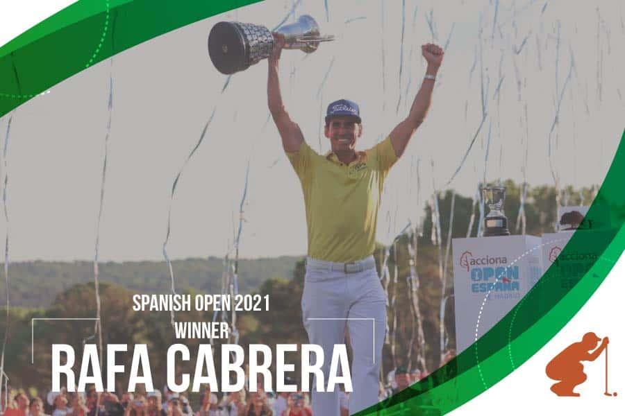 Rafa Cabrera Bello at the top in the Spanish Open 2021